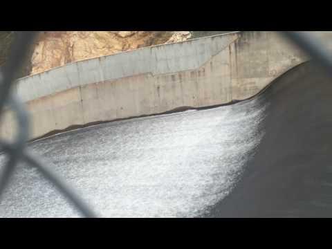 Fish going over Blowering Dam spillway NSW Australia