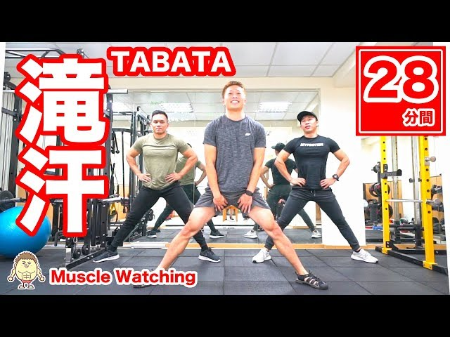 【28分】滝汗TABATA強度MAX f.t.CYFIT兆佑 and 健人蓋伊 | Muscle Watching in Taiwan