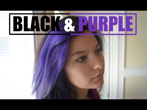 How to Dye Your Hair Black and Purple!!! - YouTube