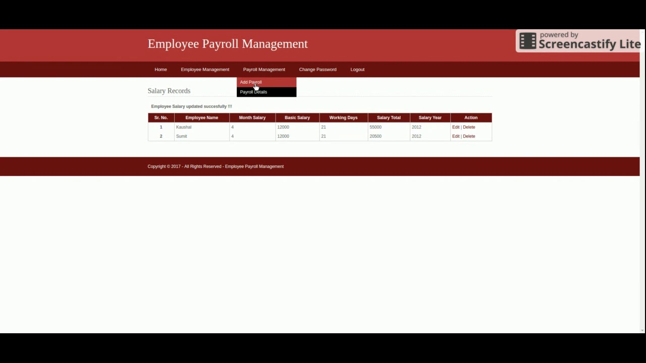 Employee Payroll Management System