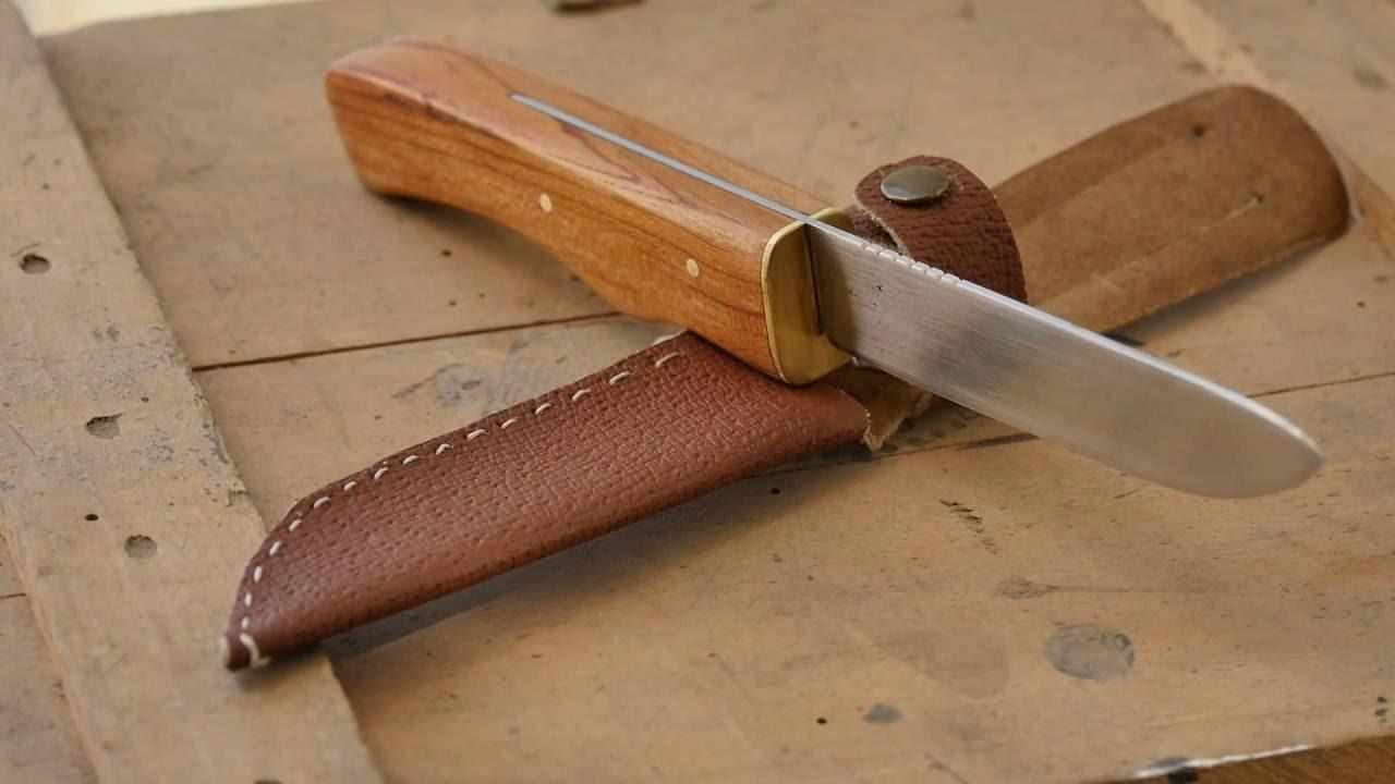 bushcraft knife from old kitchen knife youtube
