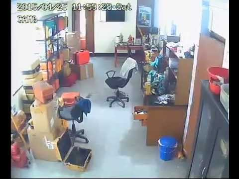 Nepal Earthquake   CCTV footage  at some workshop office 25 April 2015