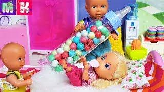 катя и папа! остались без мамы #семейка кукол #Мул...