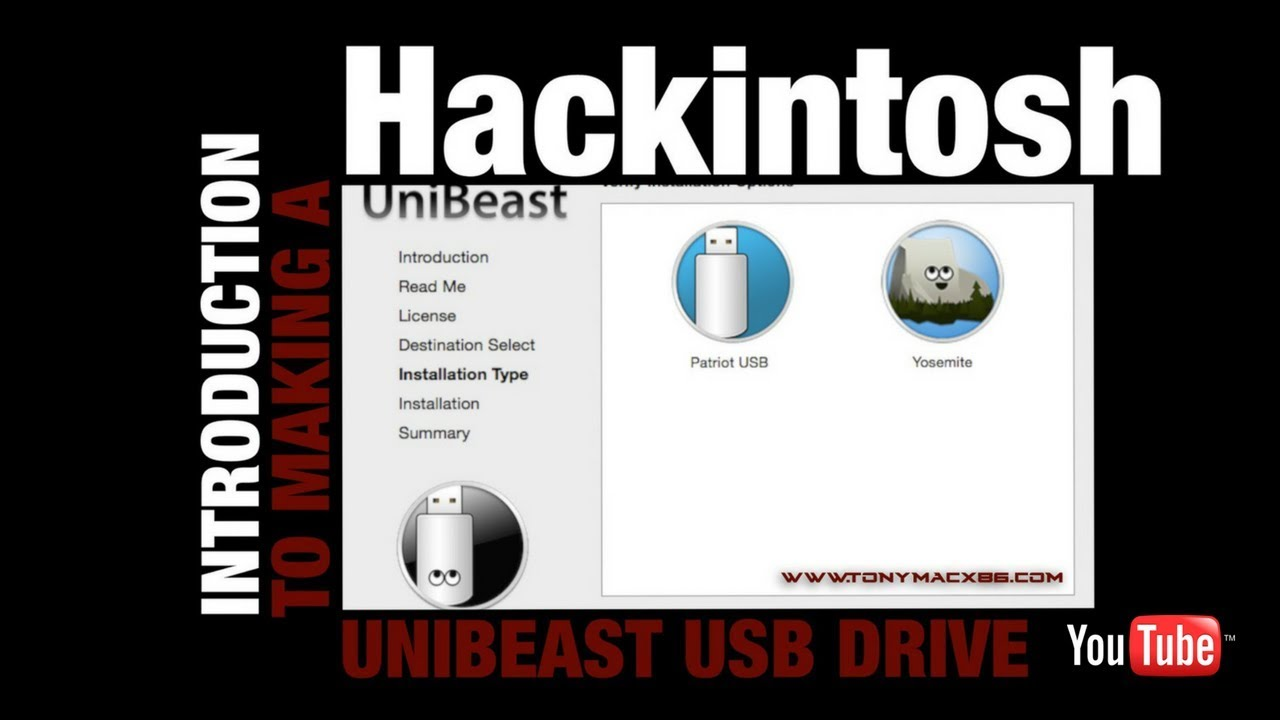 Create a Unibeast USB Drive - Intro to Hackintosh x99 (no kernel patch  needed) - Part 3
