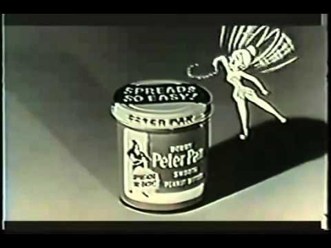 VINTAGE 1950 s PETER PAN PEANUT BUTTER   VOICED BY THE GREAT STERLING HOLLOWAY