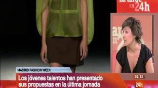 Colección Coupage de MBFWM 2013 en el Canal 24 Horas TVE