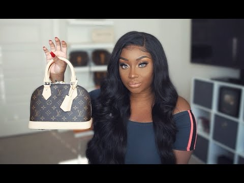 What S In My Bag Louis Vuitton Alma Bb Monogram Makeupd0ll Youtube