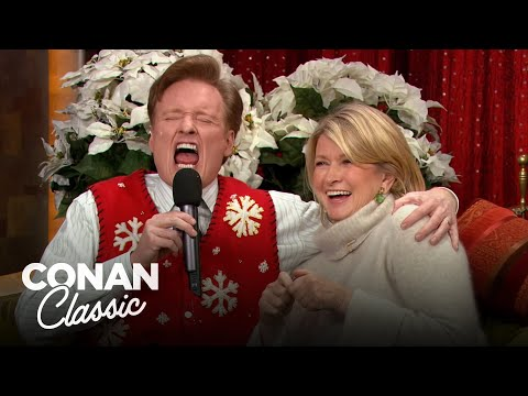 Conan Gets Into The Holiday Spirit With Martha Stewart - 'Late Night With Conan O'Brien'