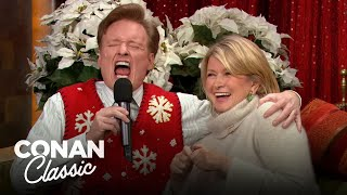 "Conan Gets Into The Holiday Spirit With Martha Stewart - ""Late Night With Conan O'Brien"""