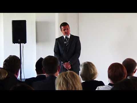 State Secretary, Ministry of Culture of Slovakia, Mr Rigo Konrád at Miranda exhibition's opening