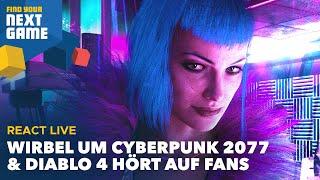 React Live: Wirbel um Cyberpunk 2077, Diablo 4 hört auf Fans, Spider-Man-Remaster und mehr