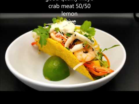 Taco seafood salad- Street food at home