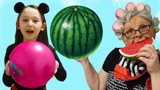 Öykü's Colorful Watermelon Balls - Fun Kids Video