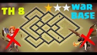 🛡CLASH OF CLANS - Town hall 8 (TH8) War base | anti two star | Anti valk | anti drag | 2017