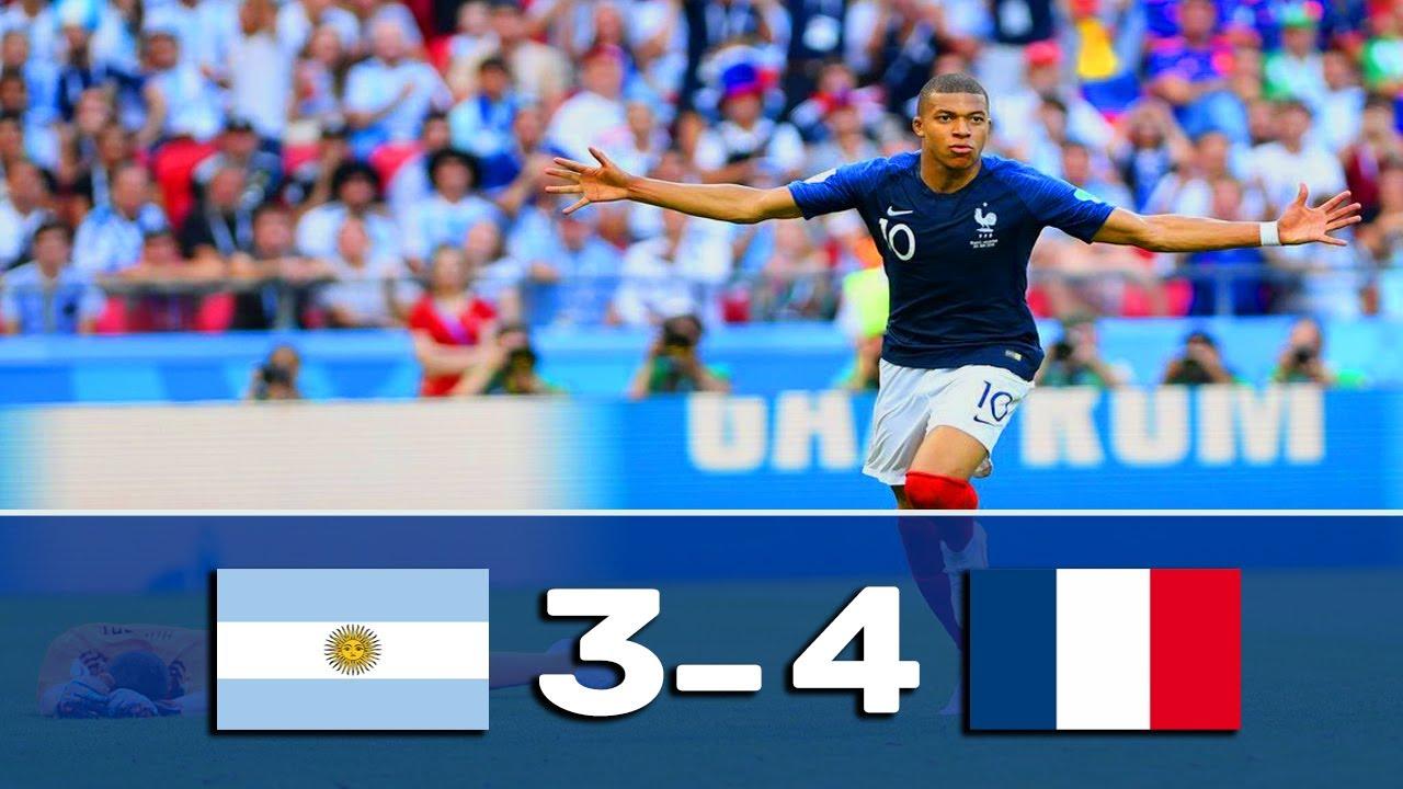 ملخص الأرجنتين و فرنسا 4-3 ◄كأس العالم 2018 [ جنون عصام الشوالي ] HD