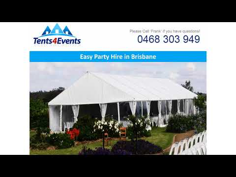 Easy Party Hire in Brisbane - Tents 4 Events  sc 1 st  YouTube & Easy Party Hire in Brisbane - Tents 4 Events - YouTube