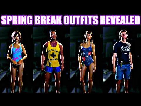 ALL SPRING BREAK OUTFITS AND DESIGNS REVEALED! - Friday the 13th The Game