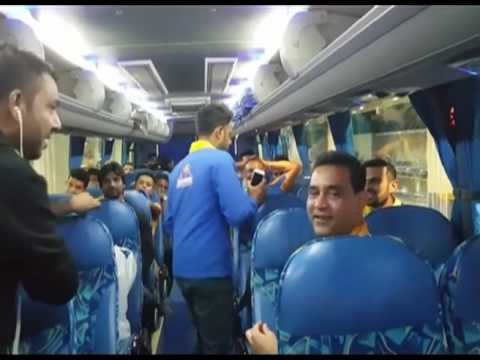 Karachi Kings Players and Official in Dubai Bus 04-02-2017