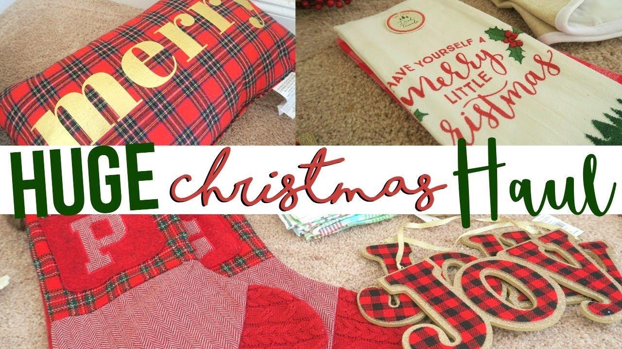 huge christmas decor haul 2017 target hobby lobby christmas tree shop ross page danielle - Hobby Lobby Christmas Stockings