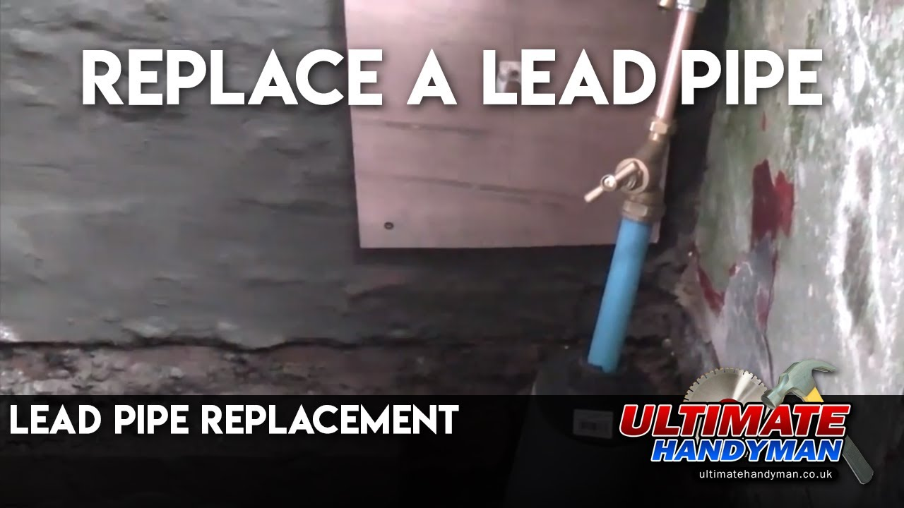 Lead pipe replacement - YouTube
