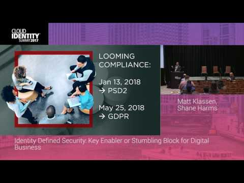 6/20 | Identity Defined Security: Key Enabler or Stumbling Block for Digital Business | CIS 2017