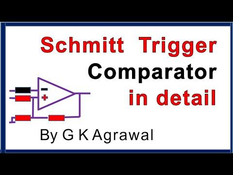 What is Schmitt trigger comparator ckt how it works