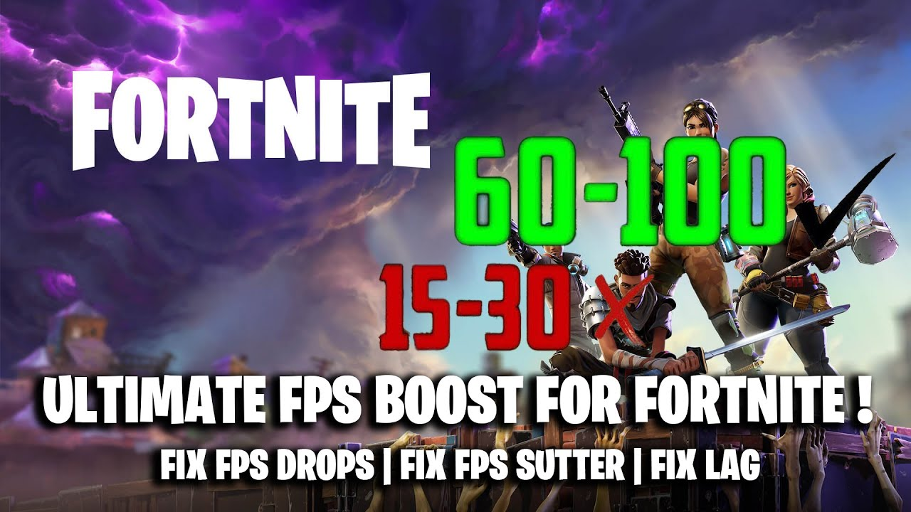 *NEW* ULTIMATE FORTNITE FPS BOOST GUIDE SEASON 9 ( FIX FPS DROPS | FPS  STUTTER | FIX LAG )