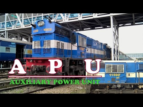 ALCo Locomotive in APU (Auxiliary Power Unit) mode | WDM3D #11590 | Running of Locomotive APU system