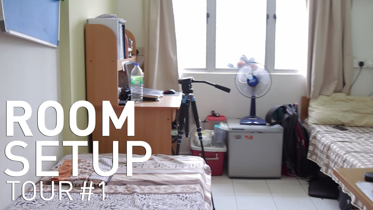 Room setup tour 1 college dorm youtube Dorm room setups
