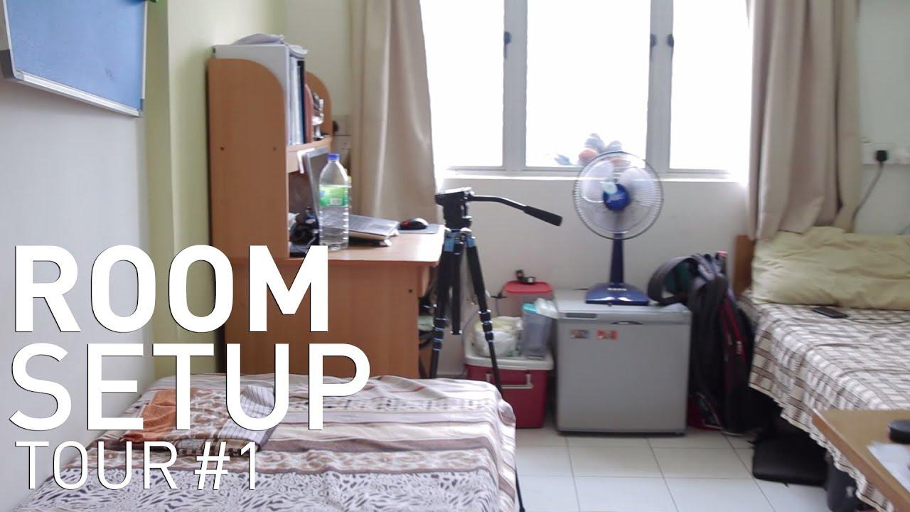 Room Setup Tour 1 College Dorm Youtube: dorm room setups