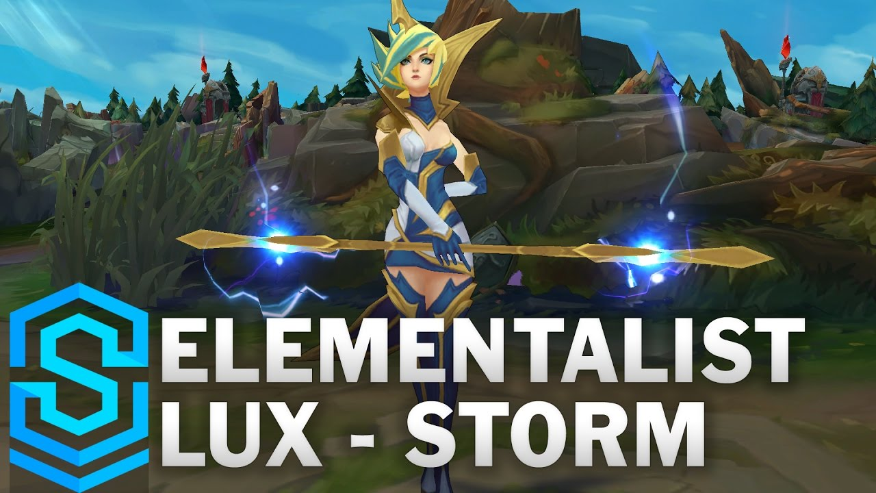 Elementalist Lux (Storm Form) Skin Spotlight - League of Legends ...