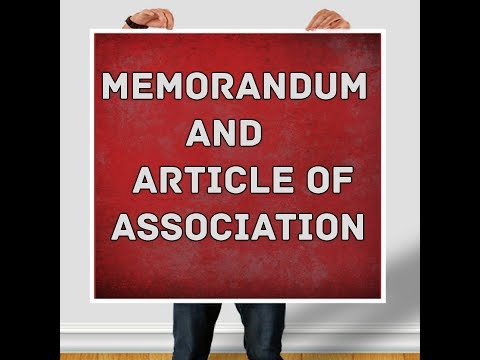Memorandum and articles of association (company law)