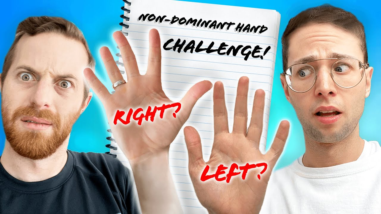 Try Guys Try Being Left-Handed For A Day
