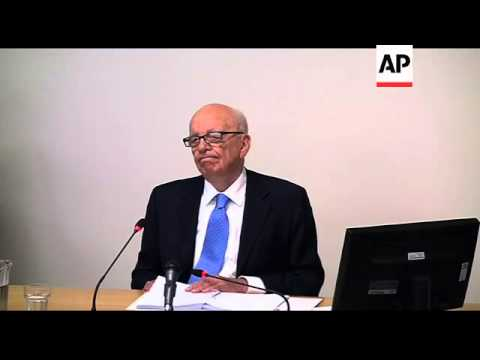 News Corp chief Rupert Murdoch gives evidence at Leveson inquiry