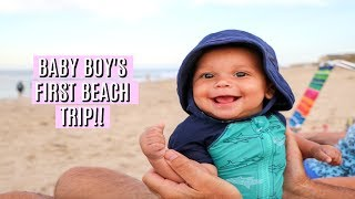 BABY AT THE BEACH!! ⛱️