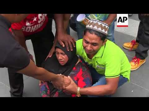 Rohingya migrants in Malaysia protest violence in Myanmar