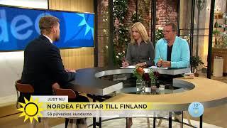 Nordea flyttar till Finland – så påverkas kunderna - Nyhetsmorgon (TV4)