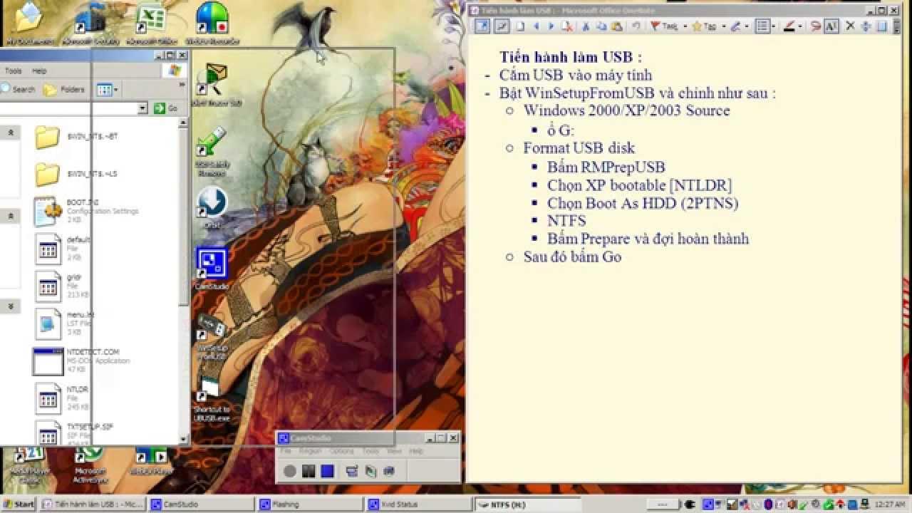 Cài đặt windows XP từ USB