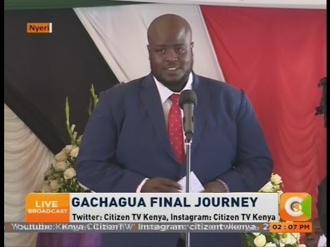 Gachagua's son Ken Nderitu pays tribute to his late father