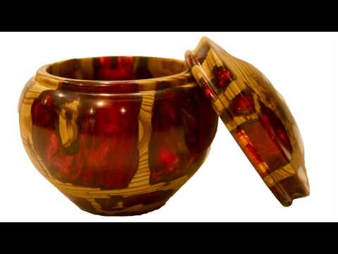 Woodturning Hybrid Resin And Cypress Lidded Box   Carl Jacobson