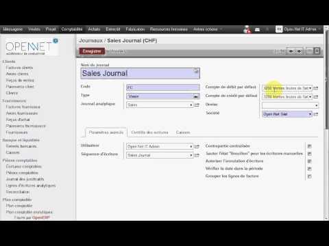 OpenERP / Odoo Suisse : Comment configurer un journal