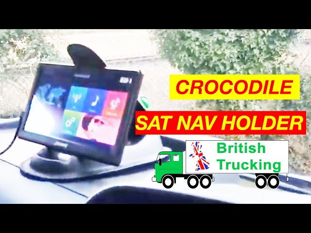 Crocodile Sat Nav Holder British Trucking