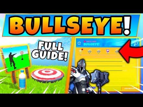 Fortnite BULLSEYE CHALLENGES GUIDE! - Firing Range Target, Skydiving Course (Fortnite Missions)