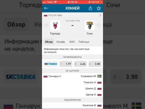 ТОРПЕДО-СОЧИ/СТАВКА/ПРОГНОЗ/КХЛ/14.01.2020/