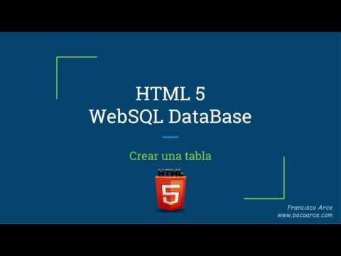 Crear Una Tabla Con WebSQL SQLite