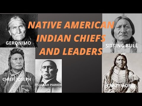 Native American Indian Chiefs And Leaders