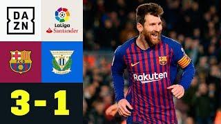 Joker Lionel Messi bringt Barca auf die Siegerstraße: FC Barcelona - CD Leganes 3:1 | La Liga | DAZN