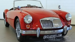 MG MGA 1600 Roadster 1960 wire wheels discbrakes restored condition -VIDEO- www.ERclassics.com