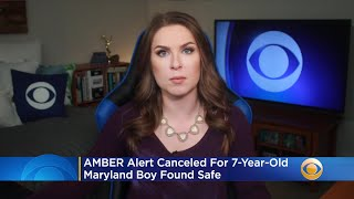 AMBER Alert Canceled For 7-Year-Old Maryland Boy