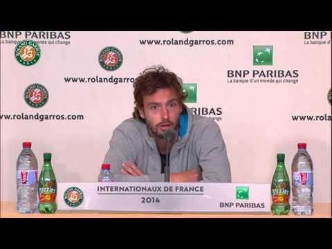Roland Garros 2014 Sunday2 Interview Gulbis
